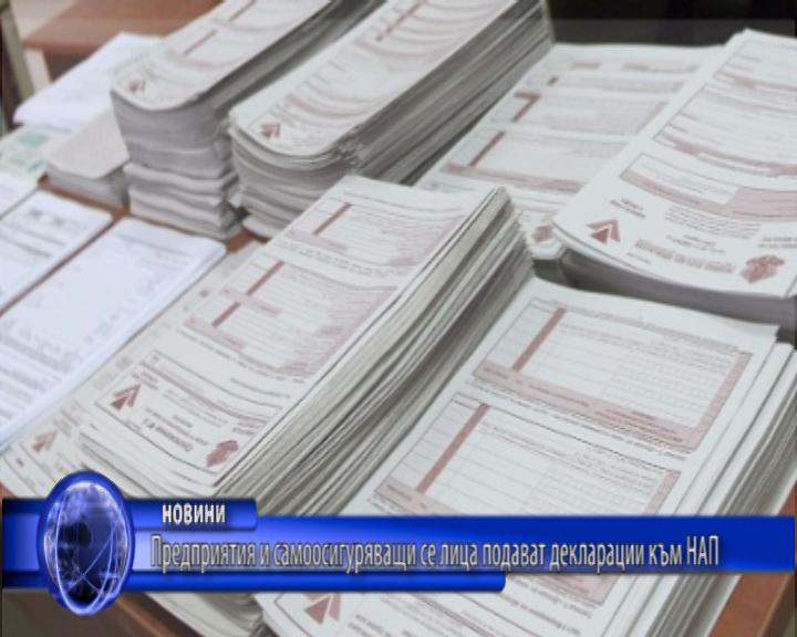 Предприятия и самоосигуряващи се лица подават декларации към НАП