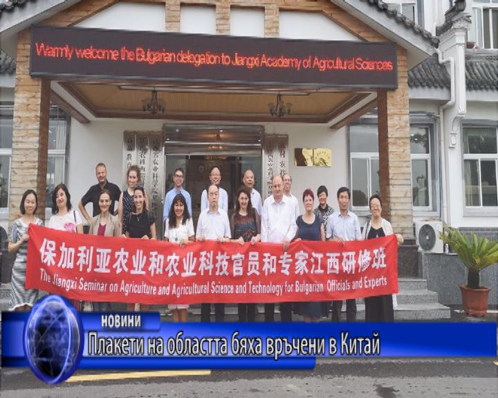 Плакети на областта бяха връчени в Китай