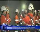 Златните момичета на България посетиха рудника в Челопеч